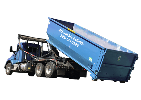 Affordable Dumpster Rentals - Blue roll-off dumpster