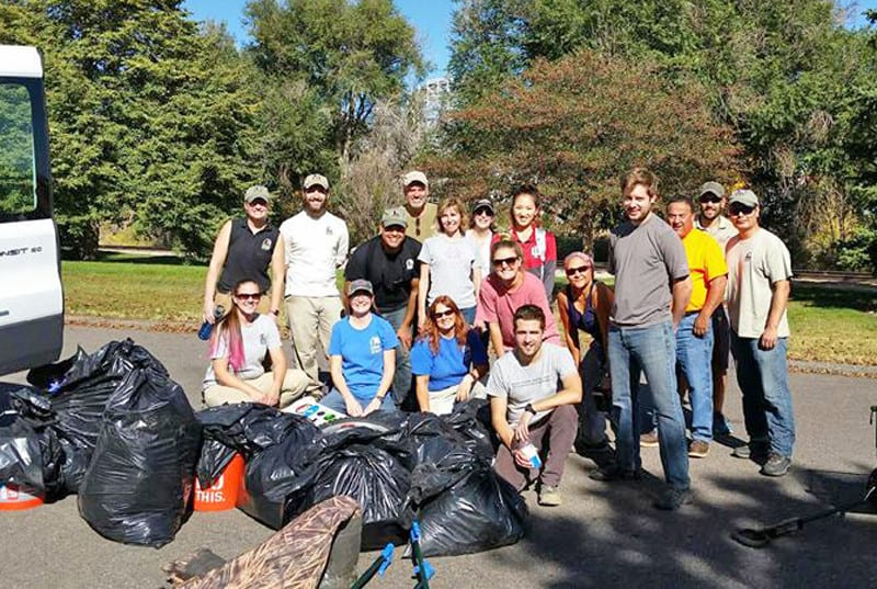 Trash clean-up in Denver