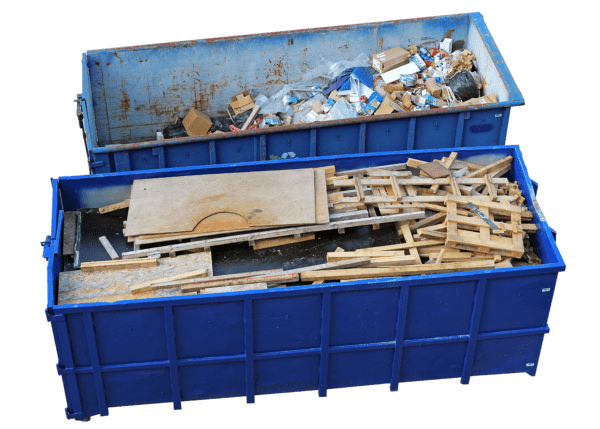 Affordable Roll-Offs Blue Roll-Off Dumpsters