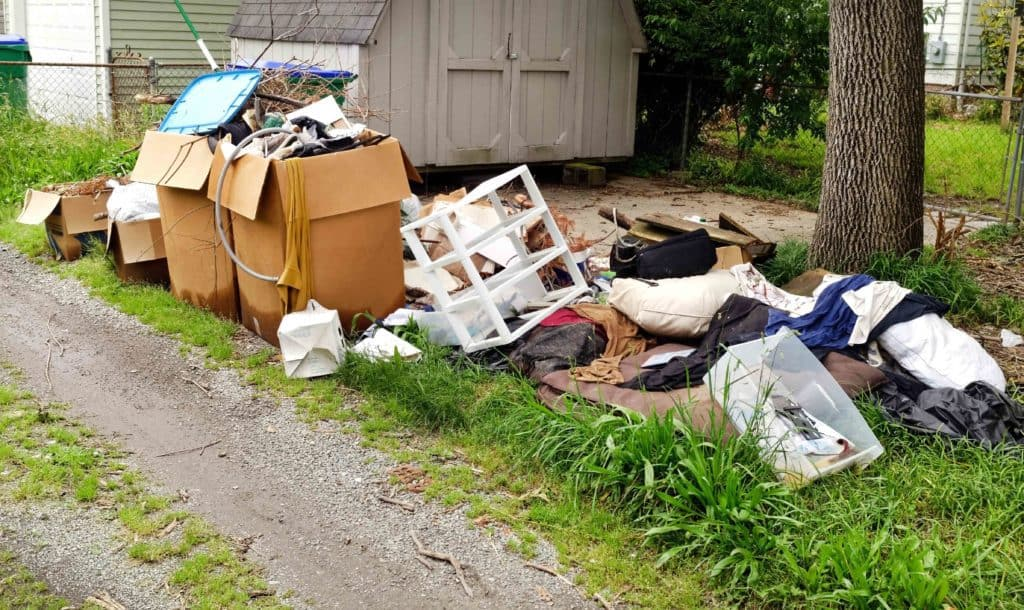 Cluttered yard