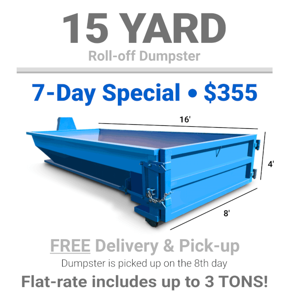 15 Yard Roll-Off Dumpster