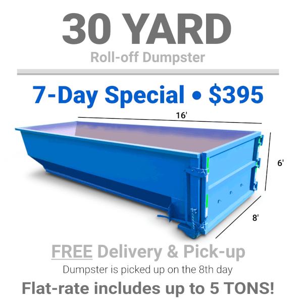 30 yard Roll-Off Dumpster