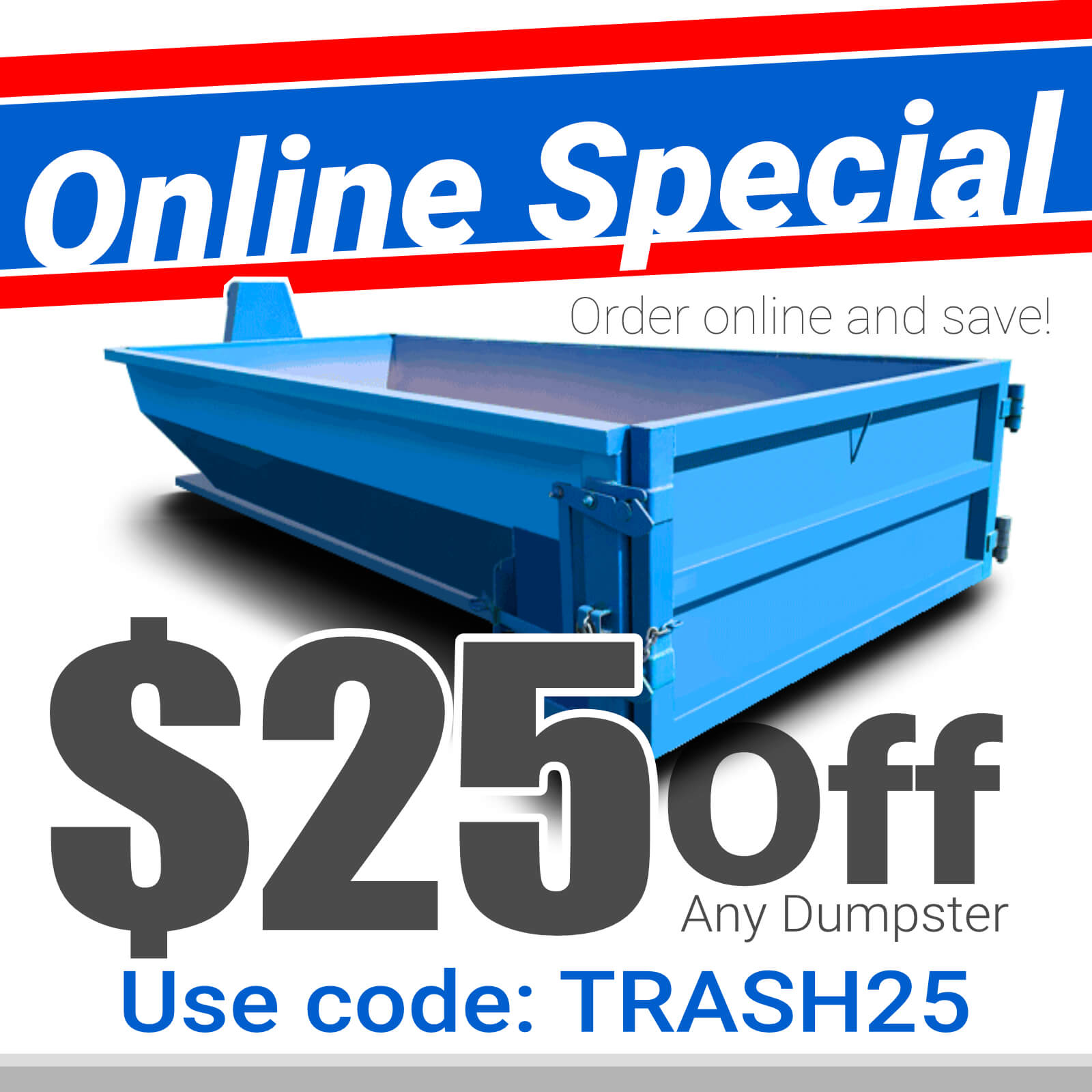 Roll-Off Dumpster - Special Online Discount