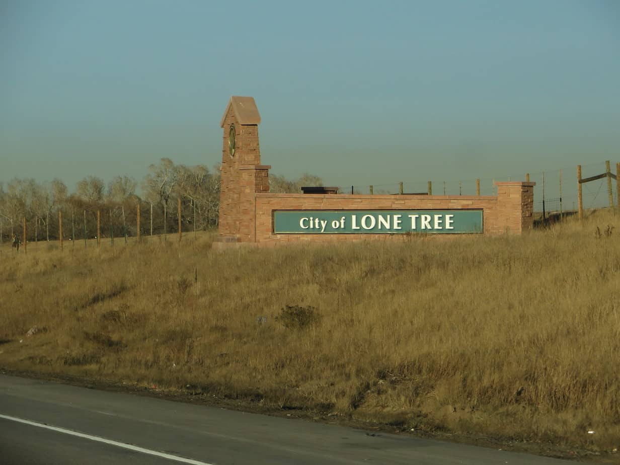 City of Lone Tree sign