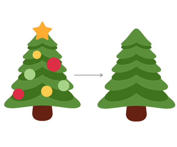 how to throw away a christmas tree 1